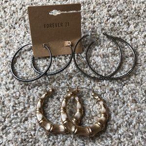 Forever 21 Earrings Hoop
